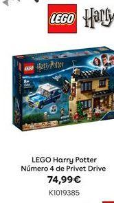 Oferta de LEGO Harry Potter Número 4 de Privet Drive por 74,99€