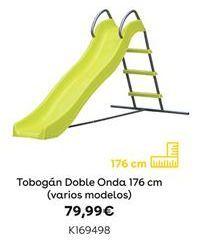 Oferta de Tobogán doble onda 176 cm  (varios modelos) por 79,99€
