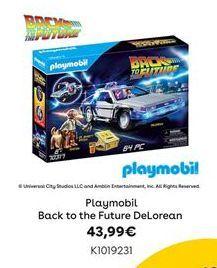 Oferta de Playmobil Back to the Future DeLorean por 43,99€