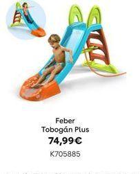 Oferta de Tobogán PLUS Feber por 74,99€
