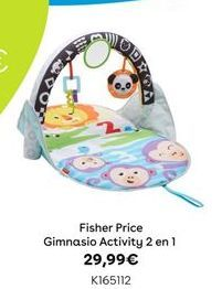 Oferta de Fisher Price Gimnasio Activity 2 en 1 por 29,99€