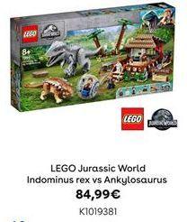 Oferta de LEGO Jurassic World Indominus rex vs Ankylosaurus por 84,99€