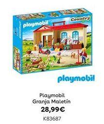 Oferta de Playmobil Granja Maletín por 28,99€