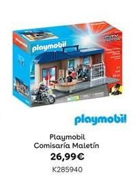 Oferta de Playmobil Comisaría Maletín por 26,99€