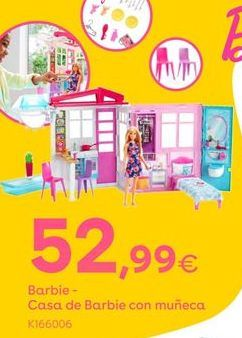 Oferta de Barbie Casa de Barbie con muñeca por 52,99€