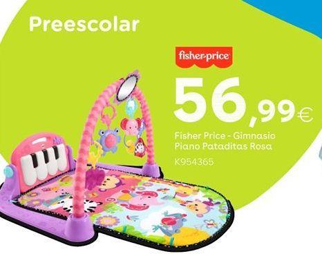 Oferta de Fisher Price - Gimnasio Piano Pataditas Rosa por 56,99€