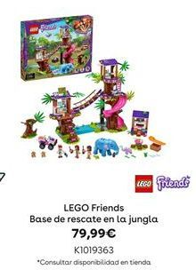 Oferta de LEGO Friends Base de rescate en la jungla por 79,99€
