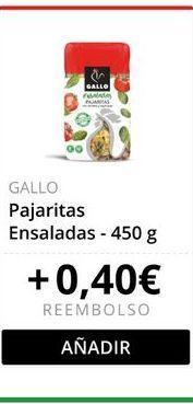 Oferta de Pajaritas vegetales Gallo por