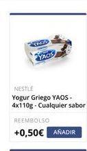 Oferta de Yogur griego Nestlé por