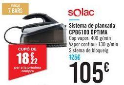 Oferta de Sistema de planchado CPB6100 OPTIMA Solac por 105€