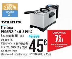 Oferta de Freidora PROFESIONAL 3 PLUS Taurus por 45€