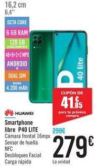 Oferta de Smartphone libre P40 LITE por 279€