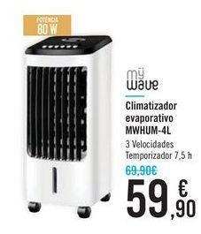 Oferta de Climatizador evaporativo MWHUM-4L MYWAVE por 59,9€