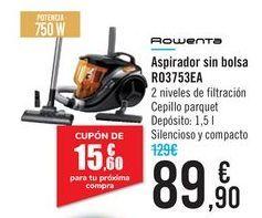 Oferta de Aspirador sin bolsa RO3753EA Rowenta por 89,9€