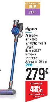 Oferta de Aspirador sin cable V7 Mothorheard Origin Dyson por 279€