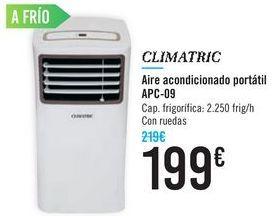 Oferta de Aire acondicionado portátil APC-09 CLIMATRIC por 199€