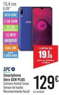 Oferta de Smartphone libre GEN PLUS SPC por 129€