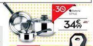 Oferta de Batería de cocina por 37,99€