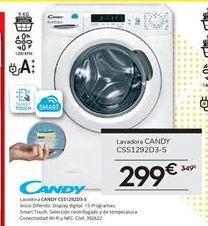 Oferta de Lavadora carga frontal Candy por 299€