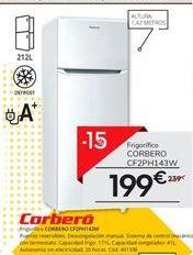 Oferta de Frigoríficos Corberó por 199€