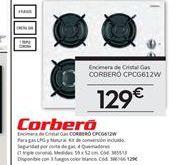 Oferta de Encimera de gas Corberó por 129€
