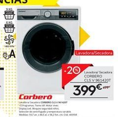 Oferta de Lavadora secadora Corberó por 399€