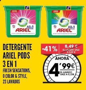 Oferta de Detergente en cápsulas Ariel por 4,99€