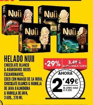 Oferta de Helados Nuii por 2,49€