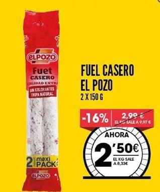 Oferta de Fuet El Pozo por 2,5€