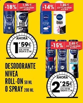 Oferta de Desodorante Nivea por 2,25€