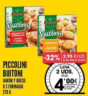 Oferta de Piccolinis Buitoni por 7,41€