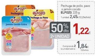 Oferta de Pechuga de pollo El pozo por 2,45€