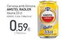 Oferta de Cerveza con limón Amstel por 0,59€