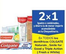 Oferta de En TODOS los dentífricos COLGATE Naturals, Smile for Good y Triple Action por