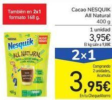 Oferta de Cacao NESQUIK All Natural  por 3,95€