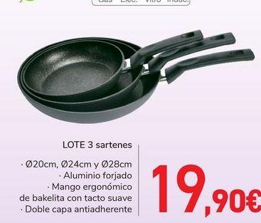 Oferta de LOTE 3 sartenes  por 19,9€