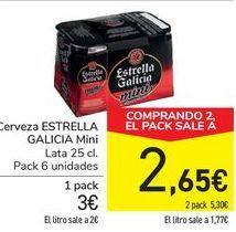 Oferta de Cerveza ESTRELLA DE GALICIA Mini por 3€
