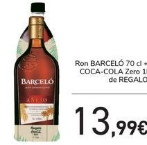 Oferta de Ron BARCELÓ+ Coca Cola de regalo  por 13,99€