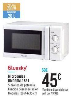 Oferta de Microondas BM020M-18P1 Bluesky por 45€