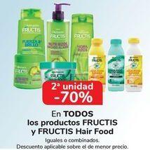 Oferta de En TODOS los productos FRUCTIS y FRUCTIS Hair Food, iguales o combinados  por
