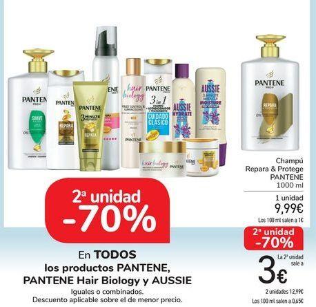 Oferta de En TODOS los productos PANTENE, PANTENE Hair Biology y Aussie por 9,99€