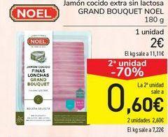 Oferta de Jamón cocido extra sin lactosa GRAN BOUQUET NOEL por 2€