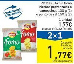 Oferta de Patatas LAY'S Horno hierbas provenzales o campesinas o punto de sal  por 1,77€
