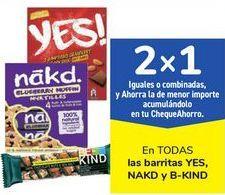 Oferta de En TODAS las barritas YES, NAKD Y b-kind, iguales o combinados  por