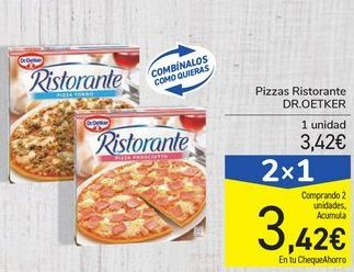Oferta de Pizzas Ristorante DR.OETKER por 3,42€