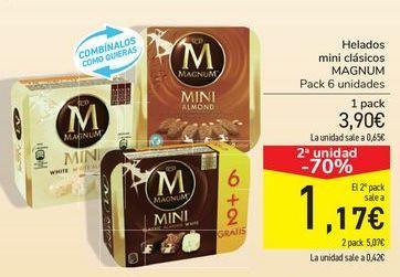 Oferta de Helados mini clásicos MAGNUM por 3,9€