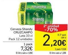 Oferta de Cerveza Shandy CRUZCAMPO por 7,32€