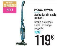 Oferta de Aspirador sin cable RH6751 Rowenta  por 119€