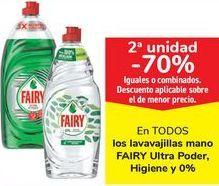 Oferta de En TODOS los lavavajillas mano FAIRY Ultra poder Higiene y 0% por