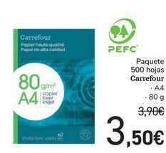 Oferta de Paquete 500 Hojas Carrefour  por 3,5€
